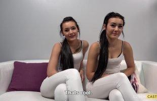 2พี่น้องฝาแฝดมาแคสติ้งถ่ายหนังโป๊ Zlata And Karolina